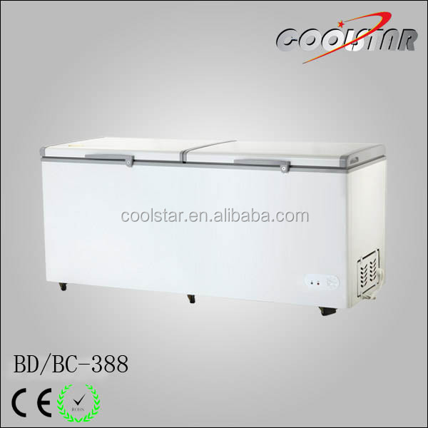 388L white cheap commercial freezer Ice Cream Chest Freezers