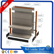 stainless steel display rack stand and department shelf gondola for general hardware store