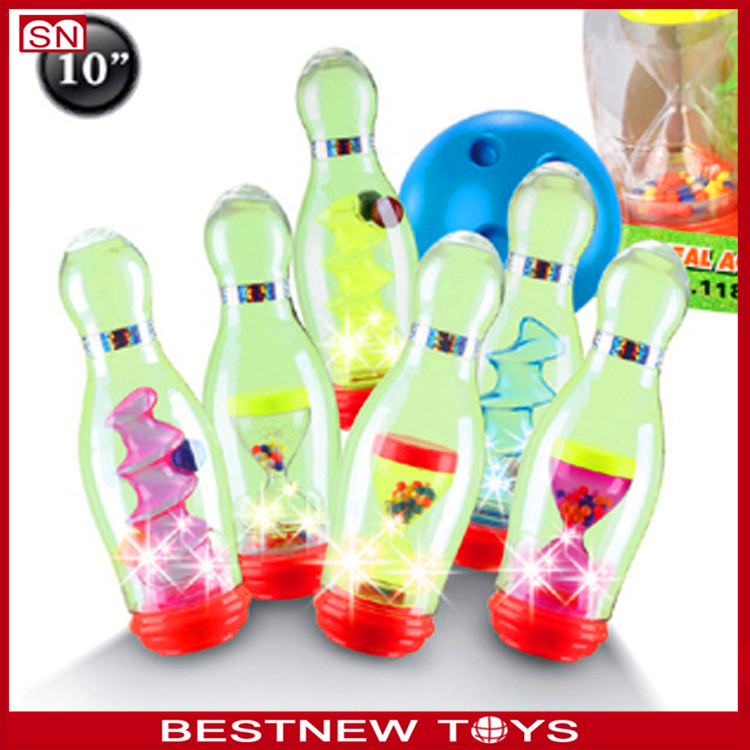 Sport Toys Deluxe Plastic Bowling Ball Set With Lights For Kids