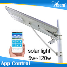 Top Quality Solar Garden Lighting Pole Light 20W With Low Power Consumption LED Luminaire
