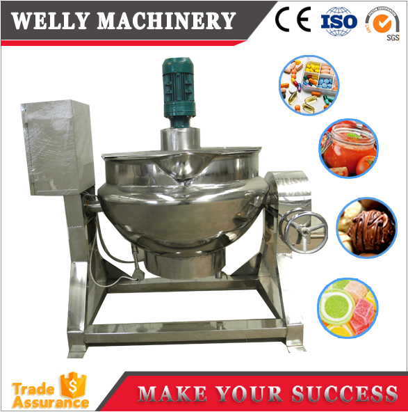 steam-jacked kettle/steam kettle boilers/jacketed boiling pan