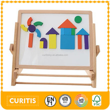 2 sides 2016 wood toy beech wood board whiteboard and blackboard kids magnetic wooden erasable drawing toy