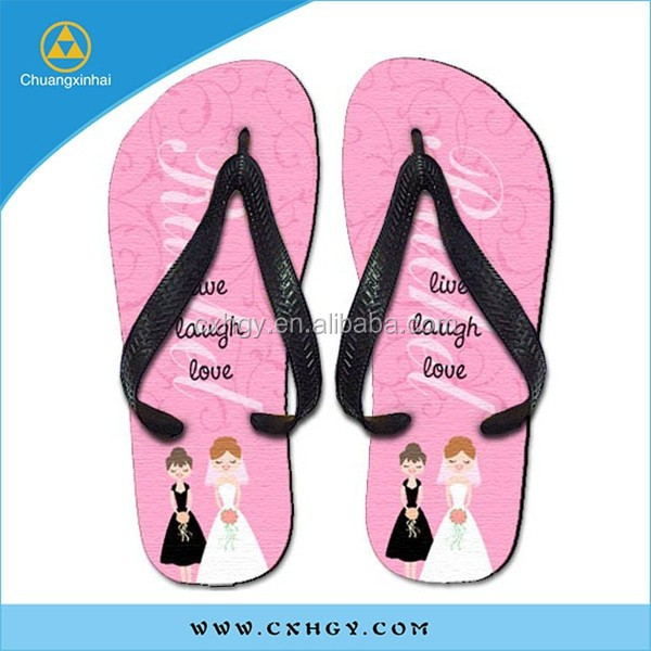 high quality factory sale personalized beach wedding flip flops