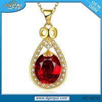 Best seller fashion waterdrop octopus watch 18kgp germanium necklace price with cz stones