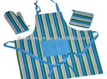 Finest quality kitchen apron glove set