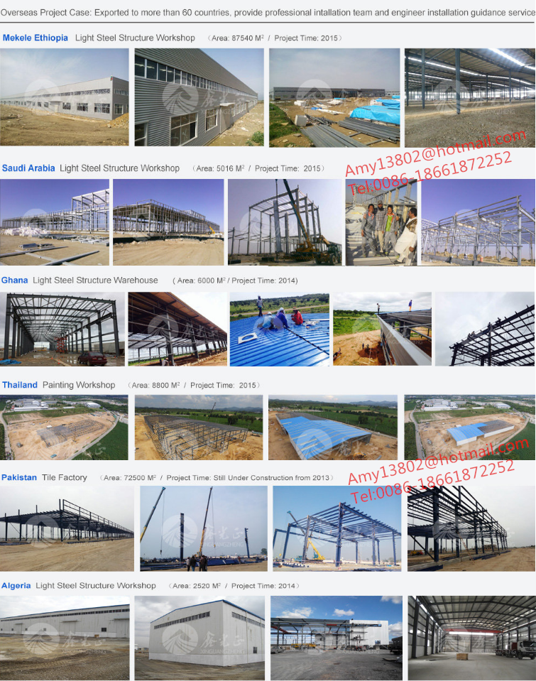 Pre engineered fabricated steel structure warehouse