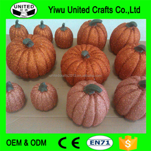 2017 Hot Sale Halloween Glittered pumpkin