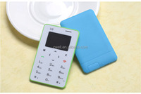 Low Price iCard U6 Card Size Mobile Phone 0.96 Inch OLED Screen GSM Quad Band Single SIM Card FM Radio 4.8mm Slim Body