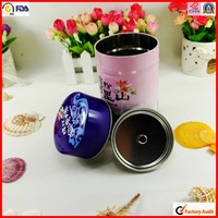 factory custom packaging wholesale round tea tin