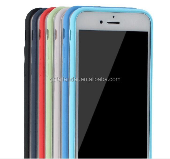 Silicon Case Soft TPU stand phone accessory for iPhone 6 case, mobile phone case 10 colors in securities