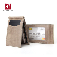 RFID Blocking Slim Bifold Genuine Leather Minimalist Front Pocket Wallets for <strong>Men</strong> with Money Clip