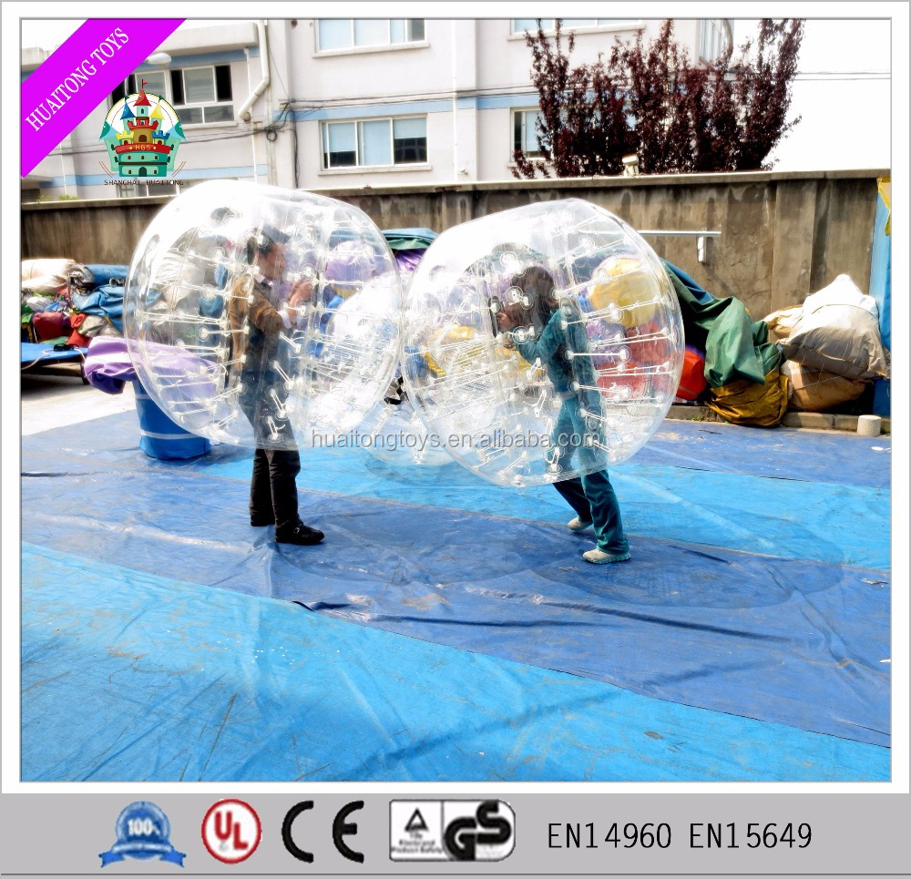 2016 Cheap inflatable bumper balls zorbing soccer bubble football for sale