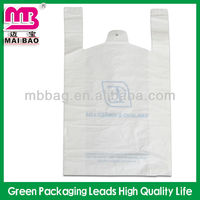 PE/PO special customized vest carrier shopping plastic bags