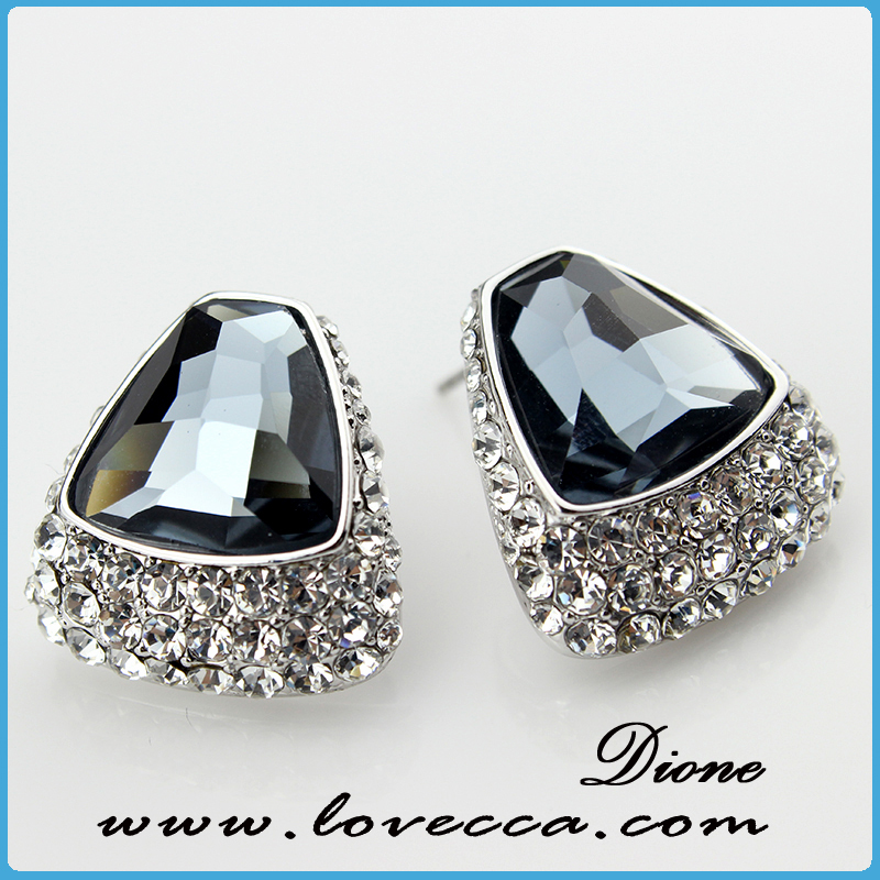 New Products fashion Europe style earring for women	,crystal lady earring for decor