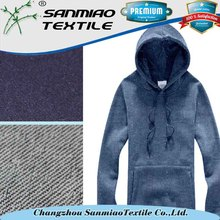 Stretch knitted denim 100 cotton fleece fabric for coat use WHCP-02