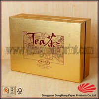 2016 custom luxury printed chinese tea set gift box recycled