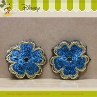 New Fashion Design Embroidery Flower Applique with Hand Beaded for Dress