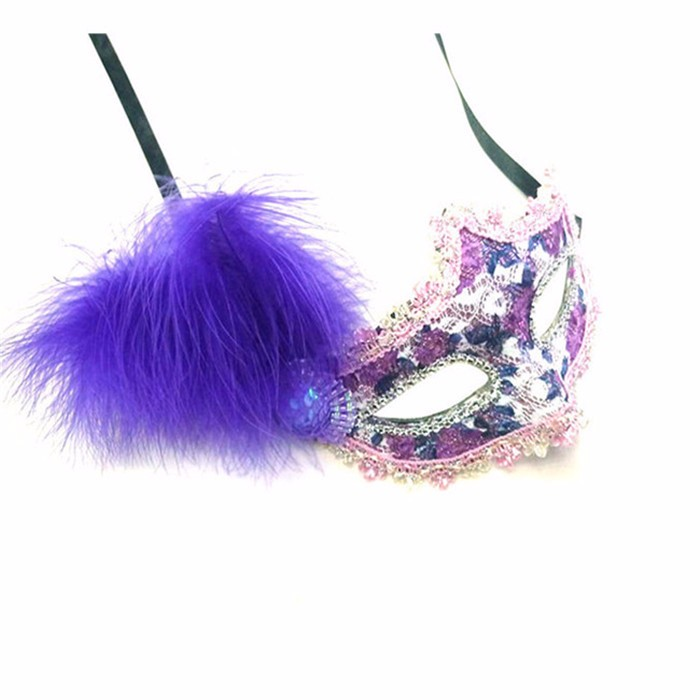 Top selling Latest design Low Moq venetian feather masks