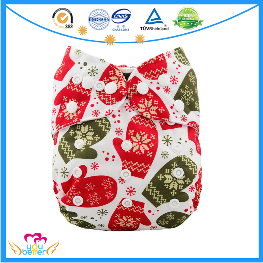 The Lowest Price PUL Cloth Diaper Baby Newborn Cloth Nappies New Prints For Christmas