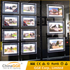 Acrylic real estate agent window led display light box for advertising