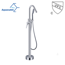 Single handle taps and showers push button freestanding bathtub faucet