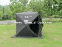 pop up quick open 3-4 person 600D heavy duty ice fishing shelter