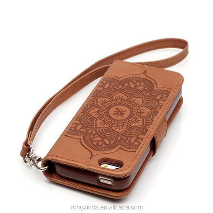 Leather luxury anti-slip flodable flip pu mobile phone cover for iphone 6 with loop mandragora diamond leather case for iPhone 7
