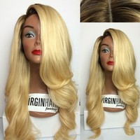 Fashion beauty remy human hair caucasian german wigs for white women