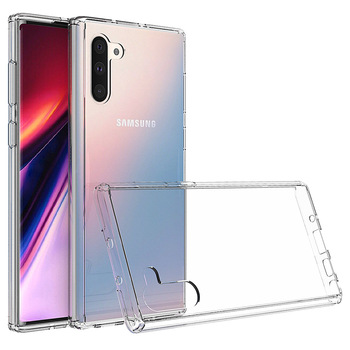 For Samsung Note 10 Clear Cover , Premium Crystal Clear Hard PC Hybrid TPU Bumper Phone Case For Samsung Galaxy Note 10
