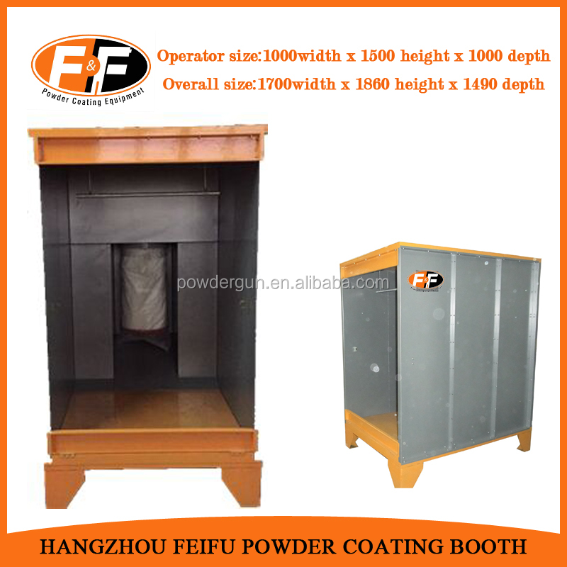 Manual Powder Coating Spray Booth Spray to Waste Batch Booths