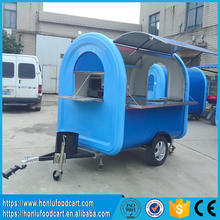 CE Approved with European standard concession trailer mobile food cart/food cart business franchise