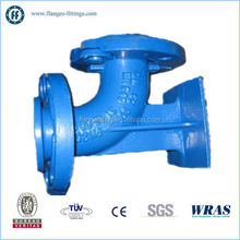 ductile iron 90 deg double flanged bend