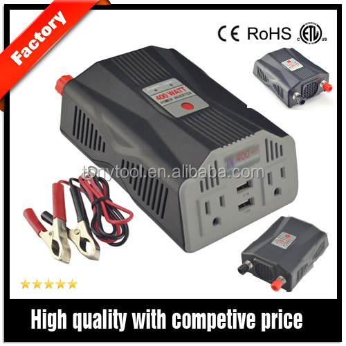 portable AC power inverter with usb charging for car ,truck RV or Boat