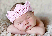 2015 New Trendy Fashion Fancy Baby Girls princess knitted tiara/Crown headband
