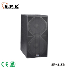 "High quality competitive price high power dual 18"" subwoofer bass speaker box"