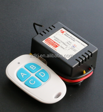 12v 4 channel Home Appliance Wireless RF Remote Control Switch/ Transmitter and Receiver System