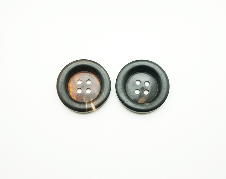 Horn Buttons Round Two Holes Buttons for Men's Suits