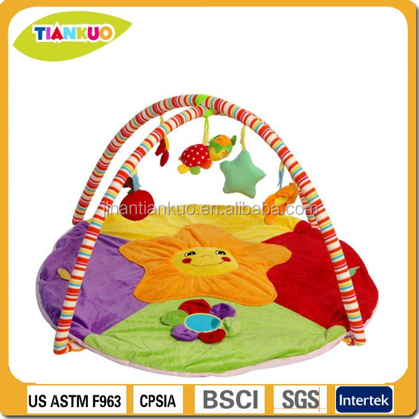 OEM customized hanging toys round cartoon play mat for kids