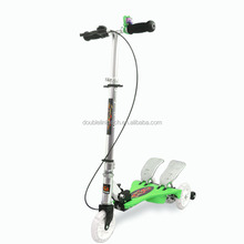 dual pedal step pedal scooter DOUBLE LINK ORIGNINAL patent scooter with 2 foot scooter
