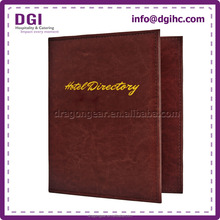 food menu cover strong leather bound 3 ring binder for cafe concession stand