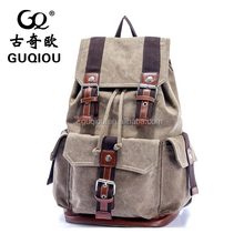 2015 China suppliers high quality hot sale traval leisure big capacity outdoor canvas backpack for teens