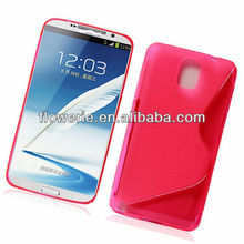 FL3114 2013 Guangzhou wholesale s line clear soft tpu gel cover case for samsung galaxy note 3 n9000