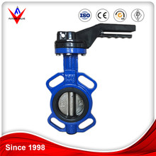 Butterfly Valve / Blue Epoxy Coated Cast Iron Wafer Type Butterfly Valve
