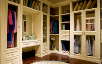 2016 Simple walk in wood closet design made in China(VT-W332)