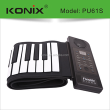 used educational kids computer electric 61keys piano with waterproof silicone speaker for christmas gift keys walmart