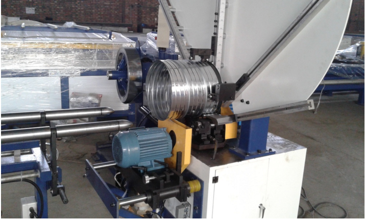 Manufacturer price flexible spiral duct making machine,high quality round duct elbow making machine