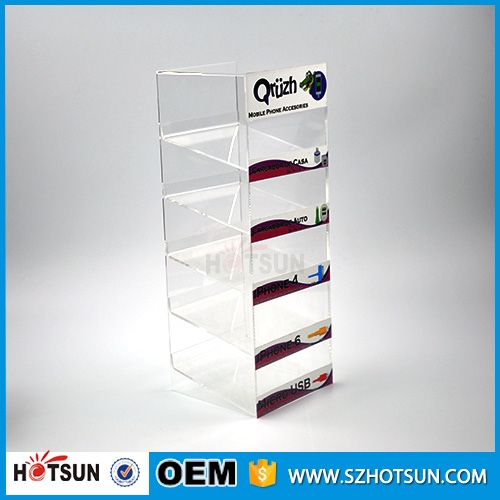 Multifunctional acrylic cell phone charger display toy acrylic display rack