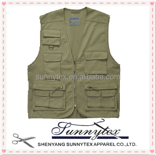 Sunnytex Men's Poly and Cotton Fishing Vest