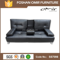 Faux Leather Sofa Cum Bed With Coffee Table