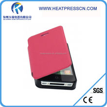 Fashionable Sublimation PU leather case for iphone 4/4s, mobile phone case for iphone 4/4s